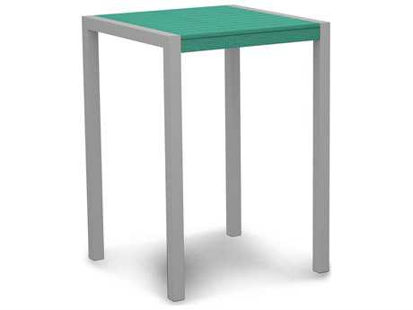 POLYWOOD® Mod Aluminum 30''Wide Square Bar Table