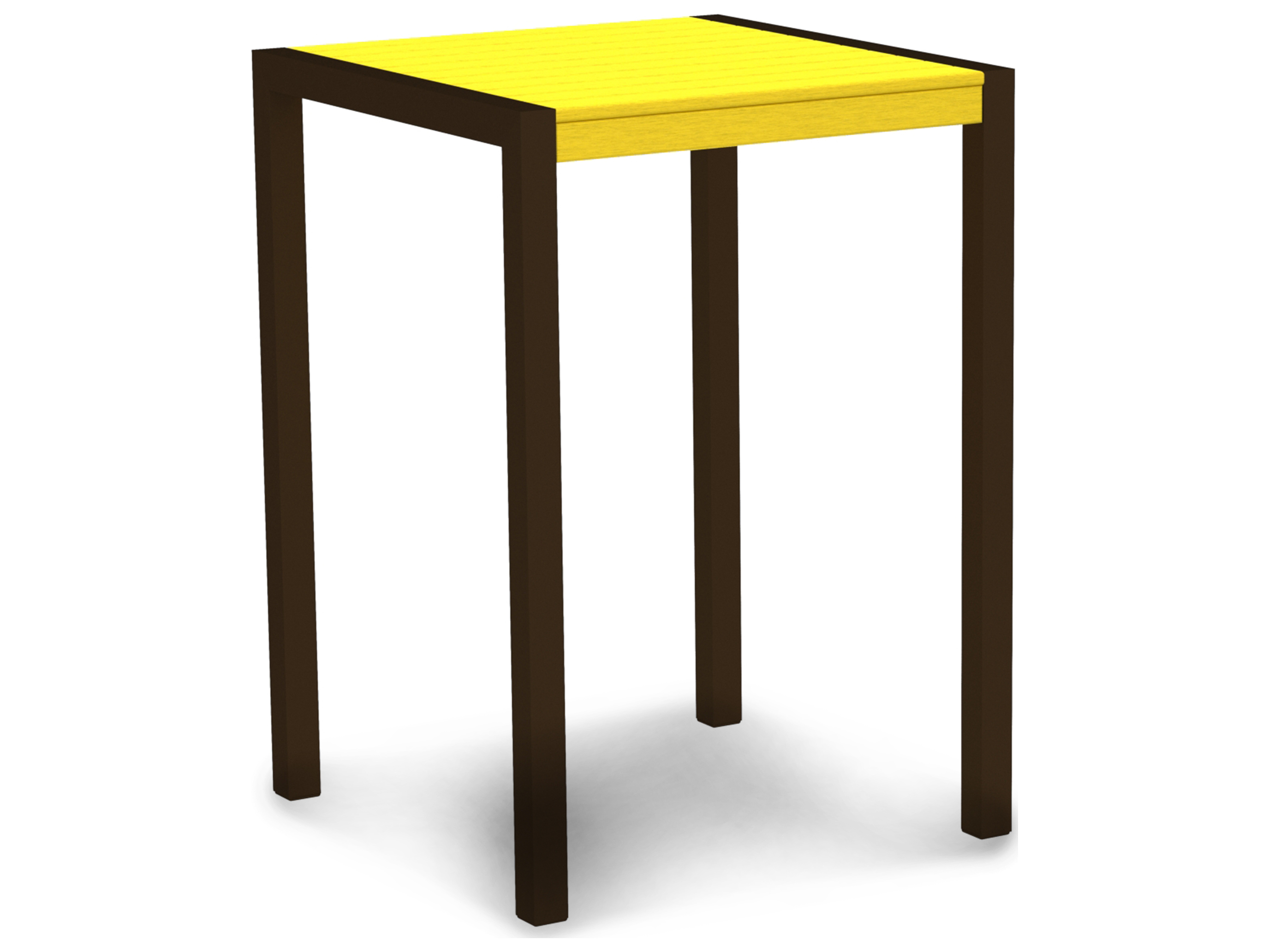 polywood mod aluminum 30 square bar table pw8002. Black Bedroom Furniture Sets. Home Design Ideas