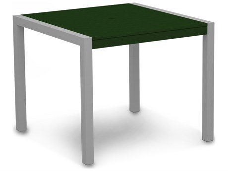 POLYWOOD® Mod Aluminum 36'' Wide Square Dining Table