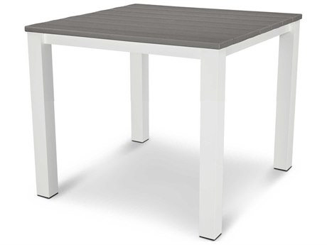 POLYWOOD® Harvest Aluminum 39''Wide Square Dining Table
