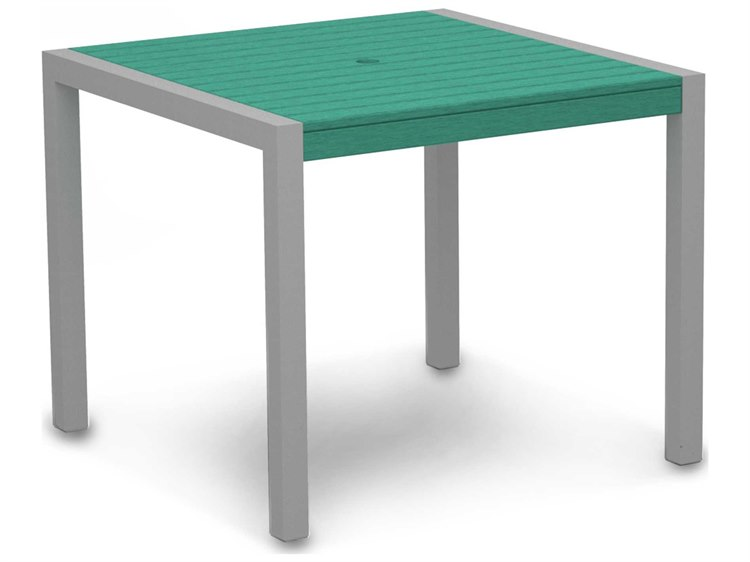 POLYWOOD® Mod Aluminum 36 Square Dining Table