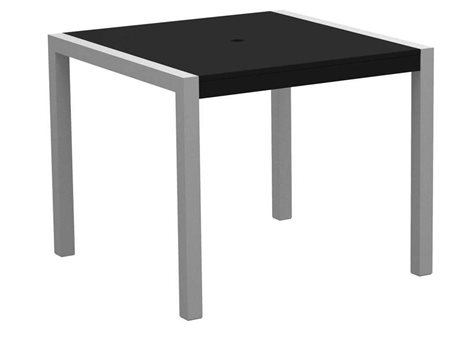 POLYWOOD® Mod Solid Aluminum 36 Square Dining Table PW8120