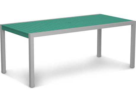 POLYWOOD® Mod Aluminum 73 x 36 Rectangular Dining Table