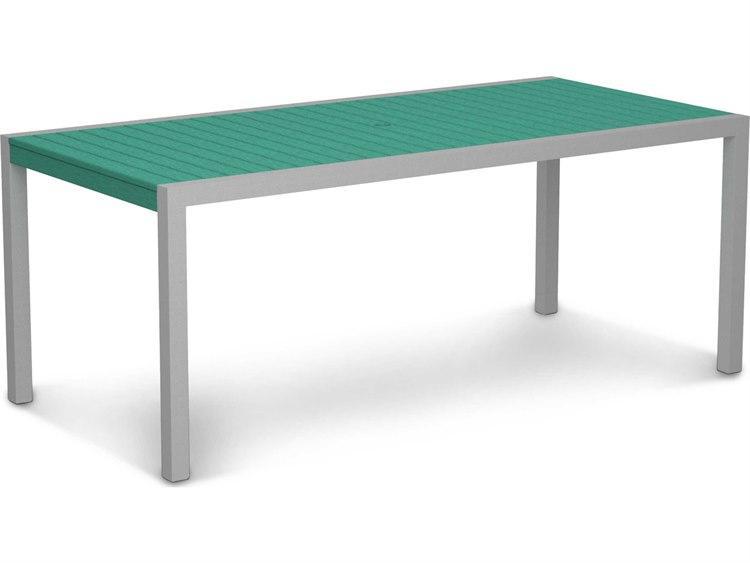 POLYWOOD® Mod Aluminum 73 x 36 Rectangular Dining Table