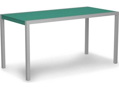 POLYWOOD® Mod Aluminum 73''W x 36''D Rectangular Counter Table