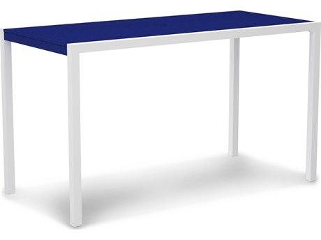 POLYWOOD® Mod Aluminum 73''W x 36''D Rectangular Bar Table