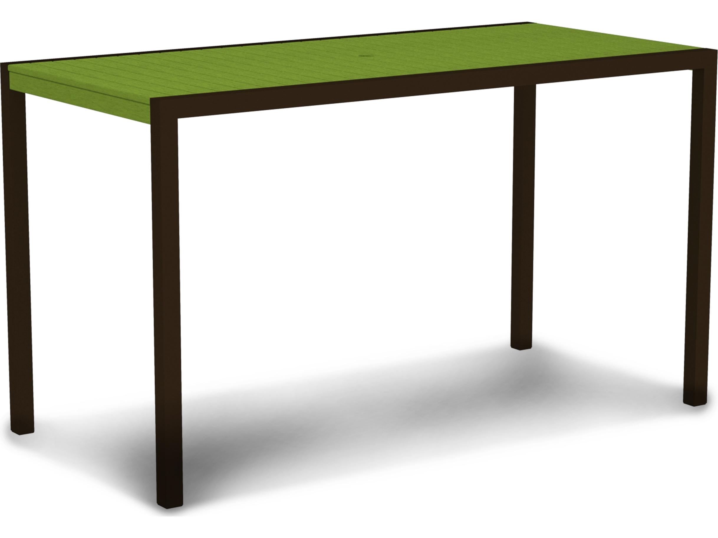 polywood mod aluminum 73 x 36 rectangular bar table 8302. Black Bedroom Furniture Sets. Home Design Ideas