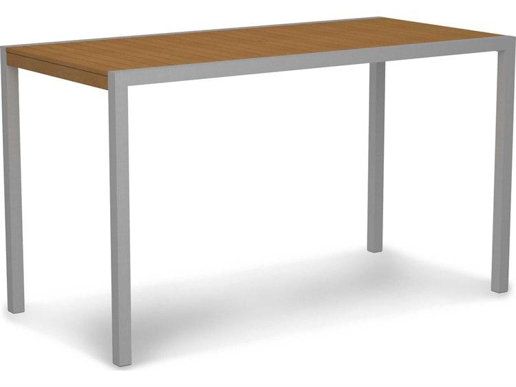 POLYWOOD® Mod Aluminum 73 x 36 Rectangular Bar Table