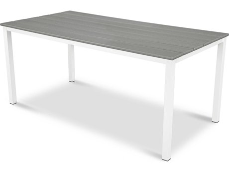 POLYWOOD® Mini Harvest Aluminum 58''W x 28''D Rectangular Dining Table