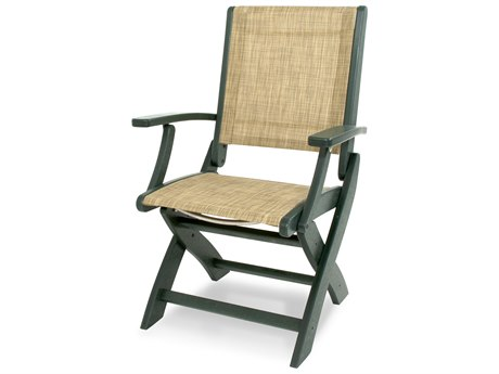 POLYWOOD® Coastal Recycled Plastic Folding Chair