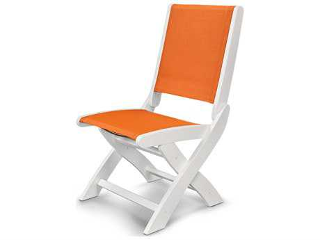 POLYWOOD® Coastal Recycled Plastic Folding Side Chair