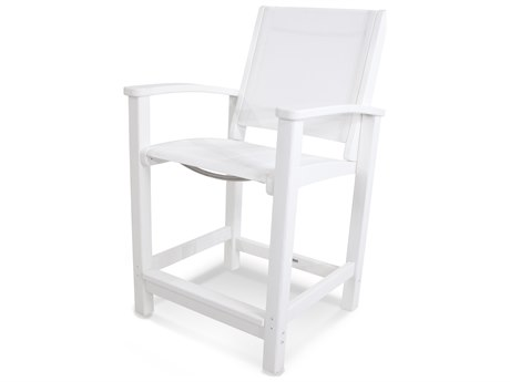 POLYWOOD® Coastal Recycled Plastic Counter Chair