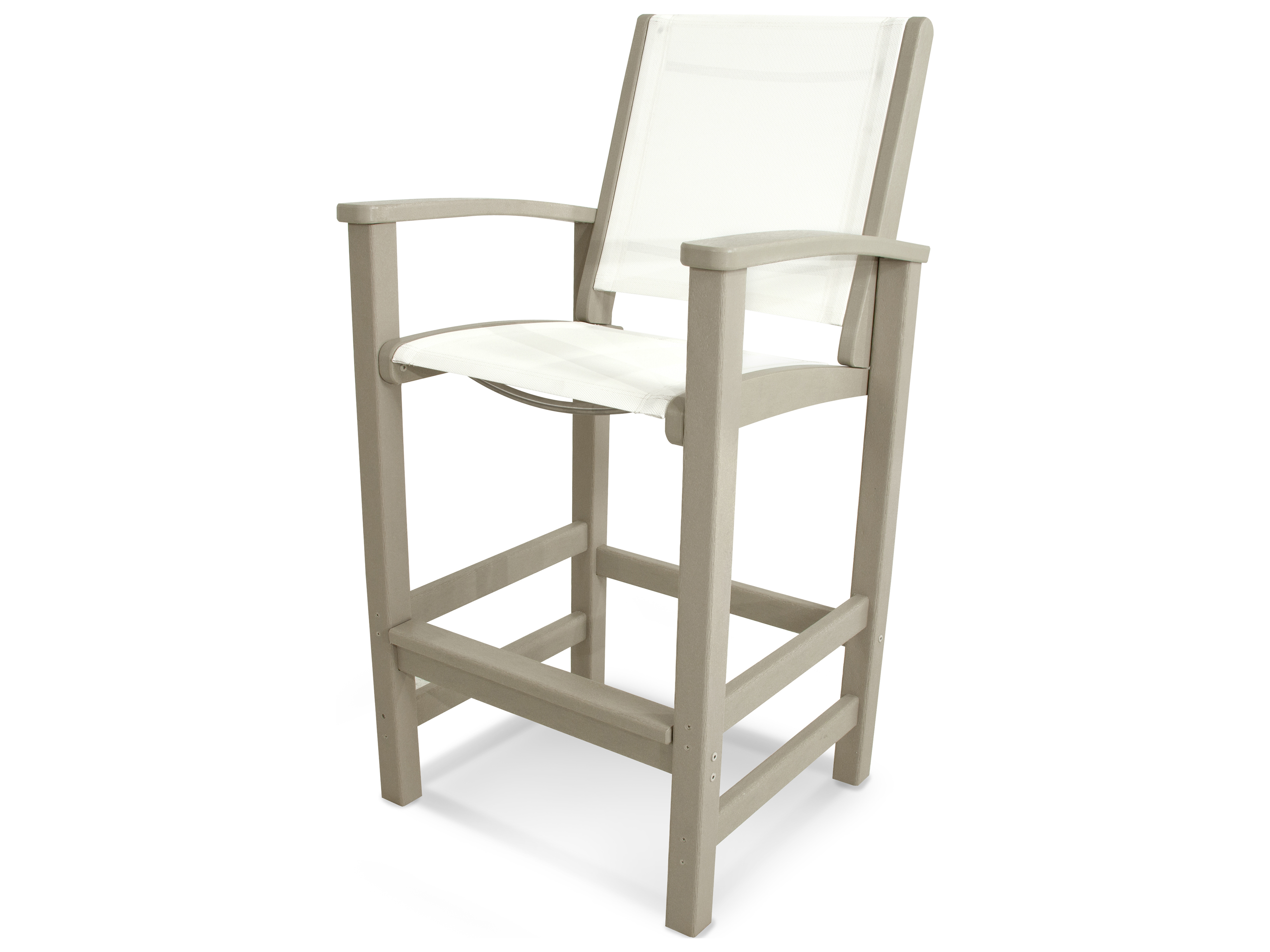 Polywood 174 Coastal Recycled Plastic Bar Chair Pw9012