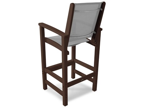 POLYWOOD® Coastal Recycled Plastic Bar Chair