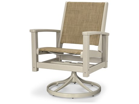 POLYWOOD® Coastal Recycled Plastic Swivel Rocker
