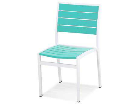 POLYWOOD® Euro Recycled Plastic Side Dining Chair PatioLiving