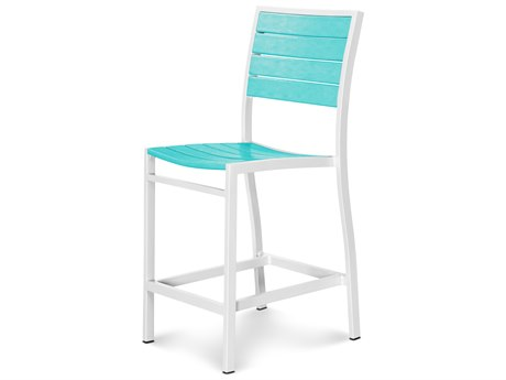 POLYWOOD® Euro Recycled Plastic Side Counter Chair PWA101