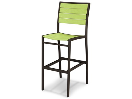 POLYWOOD® Euro Recycled Plastic Side Bar Chair PatioLiving