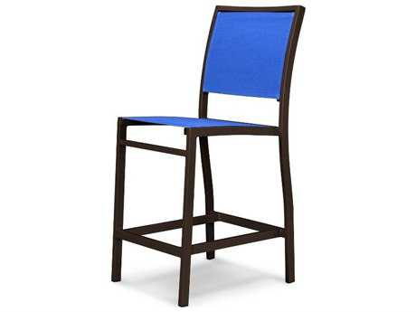 POLYWOOD® Bayline Sling Aluminum Counter Side Chair