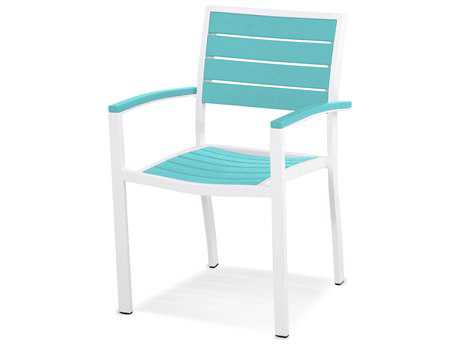 POLYWOOD® Euro Recycled Plastic Dining Arm Chair PatioLiving