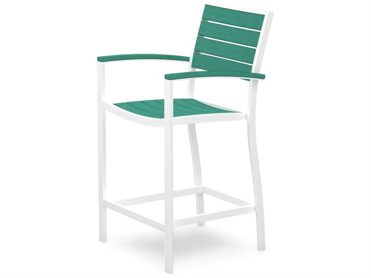 POLYWOOD® Euro Recycled Plastic Counter Arm Stool
