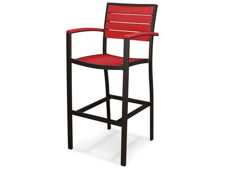 POLYWOOD® Euro Recycled Plastic Arm Bar Stool