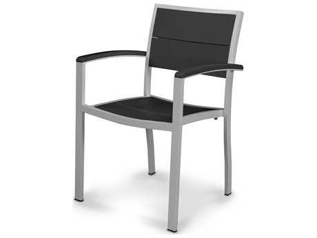 POLYWOOD® MetroAluminum Dining Arm Chair