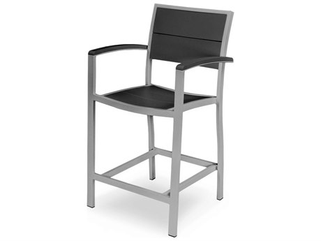 POLYWOOD® Metro Aluminum Counter Arm Chair