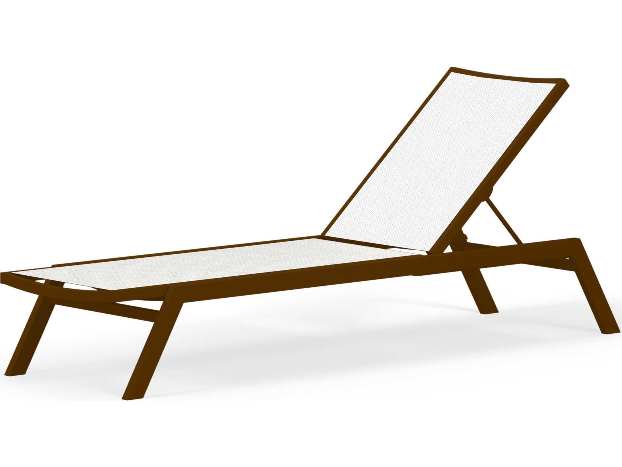 Polywood bayline sling aluminum chaise lounge pwac190 for Aluminum chaise lounges