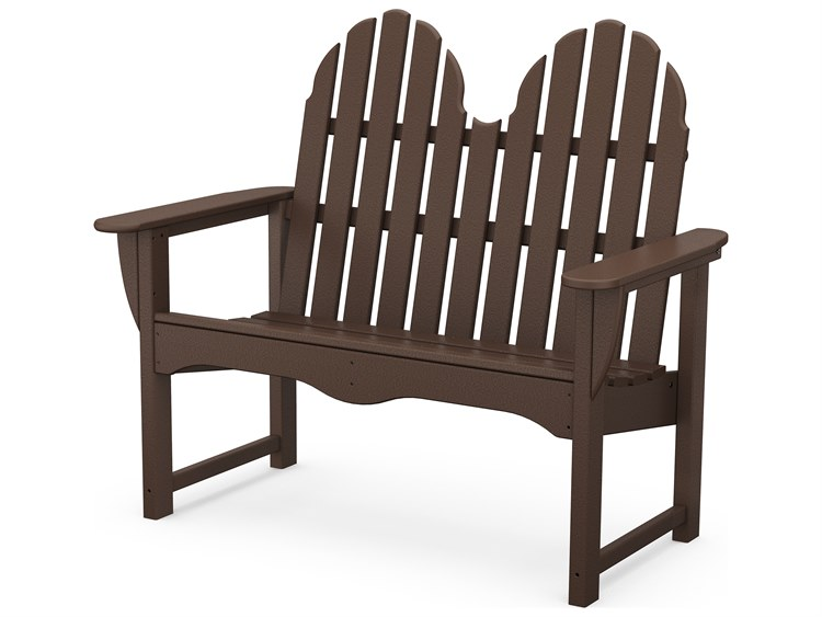 POLYWOOD® Classic Adirondack Recycled Plastic 48 Bench