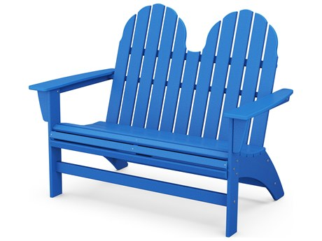 POLYWOOD® Vineyard Adirondack Recycled Plastic Bench