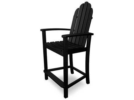POLYWOOD® Classic Adirondack Recycled Plastic Counter Stool