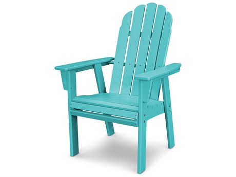 POLYWOOD Vineyard Adirondack Recycled Plastic Dining Chair