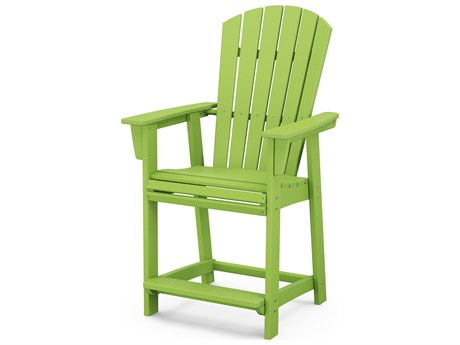 POLYWOOD® Nautical Recycled Plastic Adirondack Counter Chair