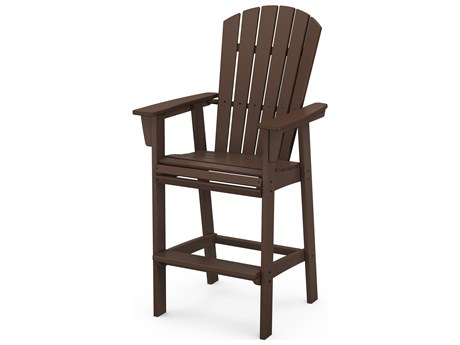 POLYWOOD® Nautical Recycled Plastic Adirondack Bar Chair