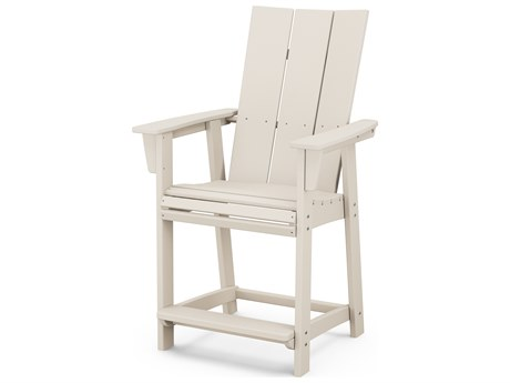POLYWOOD® Modern Recycled Plastic Adirondack Counter Chair PatioLiving