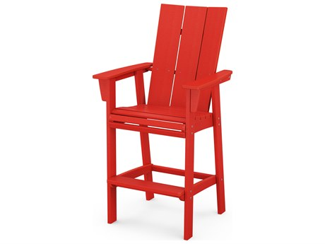POLYWOOD® Modern Recycled Plastic Adirondack Bar Chair PatioLiving