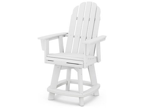 POLYWOOD® Vineyard Recycled Plastic Adirondack Swivel Counter Chair