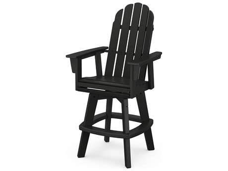 POLYWOOD® Vineyard Recycled Plastic Adirondack Swivel Bar Chair
