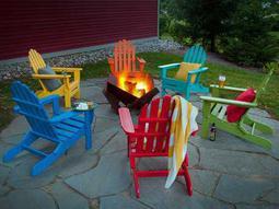 Classic Adirondack Recycled Plastic Lounge Set