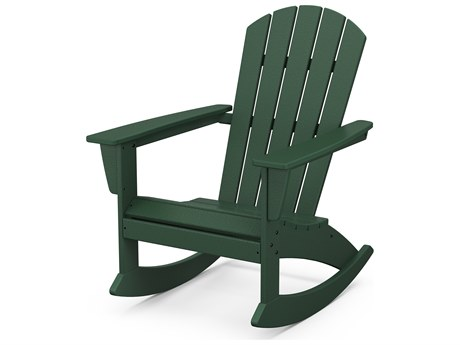 POLYWOOD® Nautical Recycled Plastic Adirondack Rocking Chair