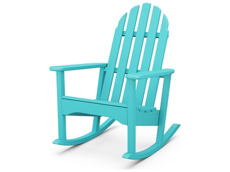 POLYWOOD® Classic Adirondack Recycled Plastic Rocking Chair PatioLiving