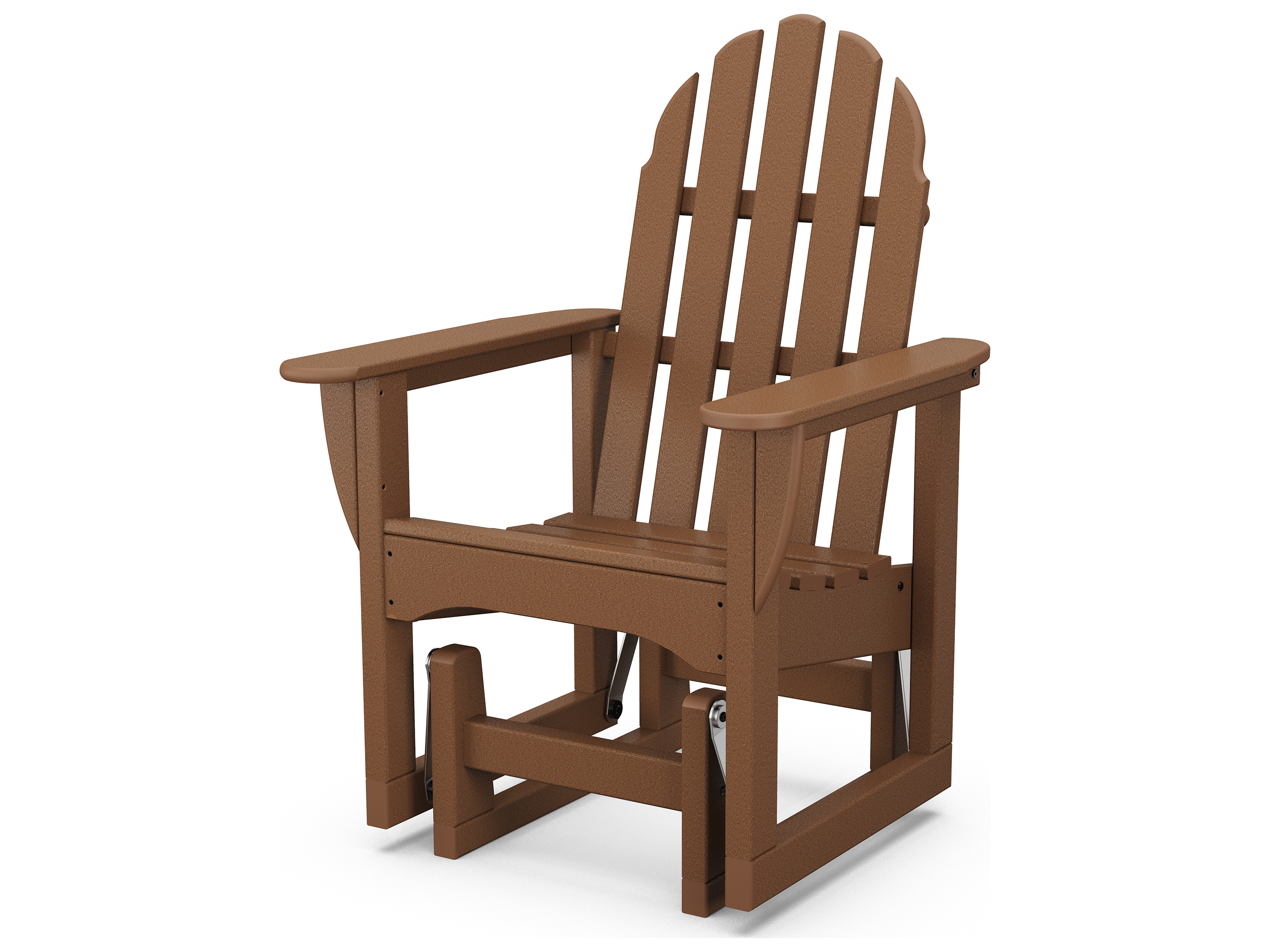 Polywood 174 Classic Adirondack Recycled Plastic Glider Chair