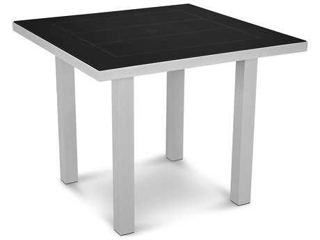 POLYWOOD® Euro SOLID Aluminum 36''Wide Square Dining Table