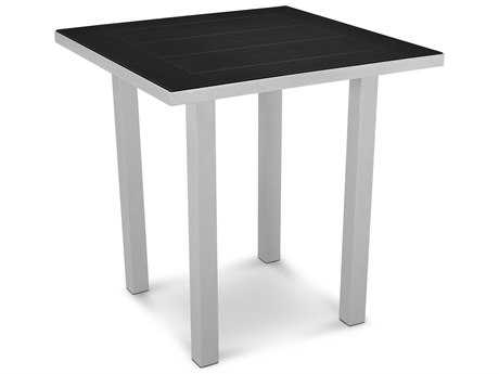 POLYWOOD® Euro SOLID Aluminum 36''Wide Square Counter Table