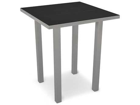 POLYWOOD® Euro SOLID36 Square Aluminum Bar Table