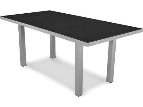 POLYWOOD® Euro SOLID36 x 72 Aluminum Dining Table