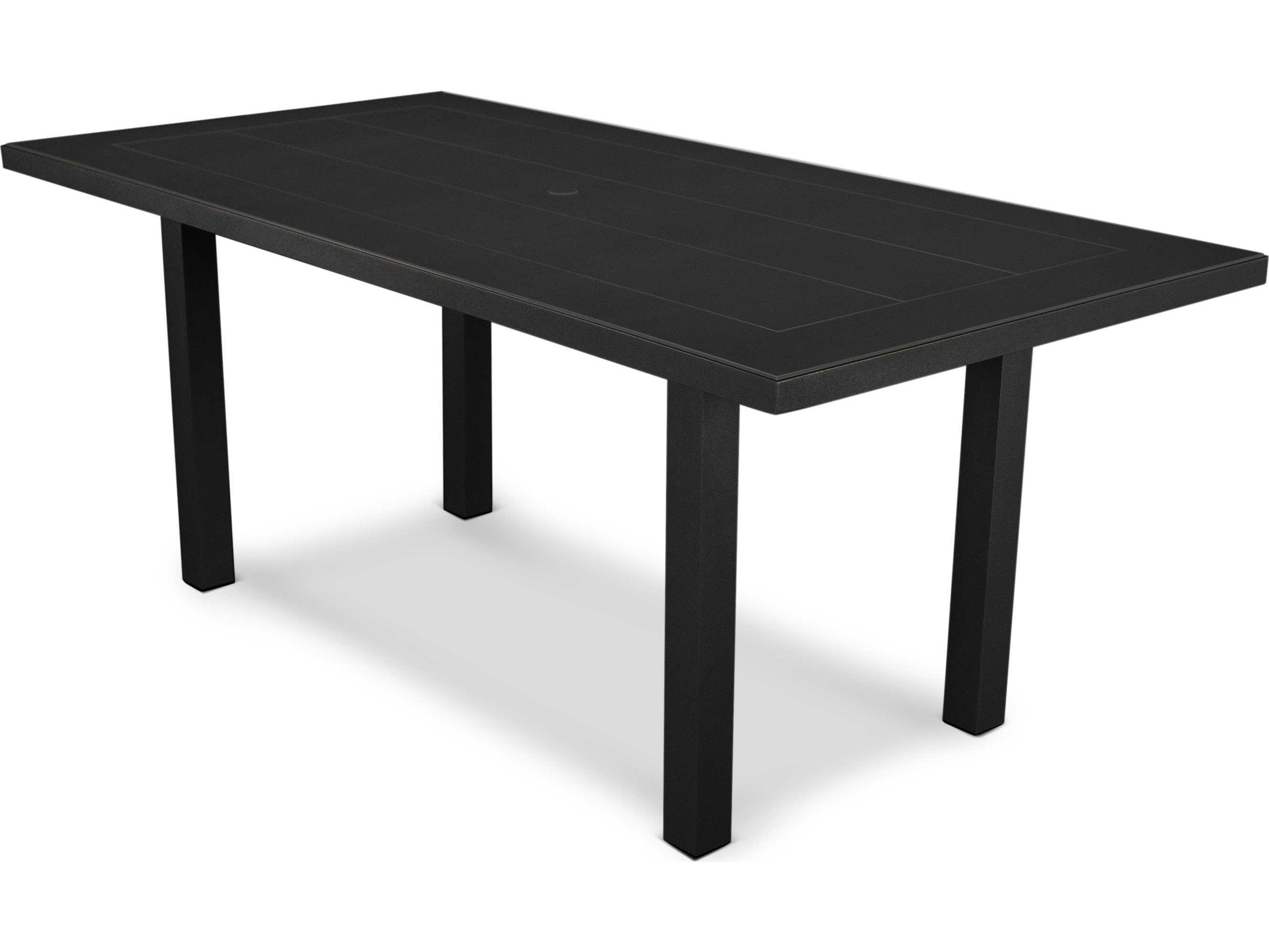 POLYWOOD Euro SOLID X Aluminum Dining Table AT - 72 x 72 square dining table