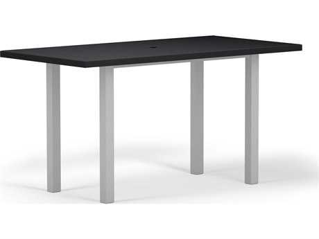 POLYWOOD® Euro SOLID Aluminum 72''W x 36''D Rectangular Counter Table