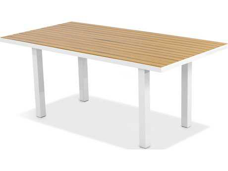 POLYWOOD® Euro Plastique 72 x 36 Rectangular Dining Table PWAT3672NT